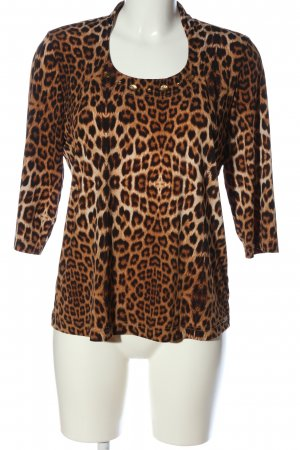 Couture Line Long Sleeve Blouse animal pattern casual look