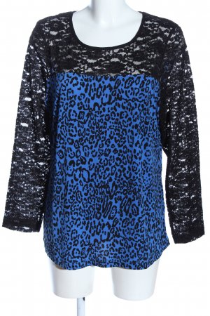 Couture Line Long Sleeve Blouse blue-black casual look