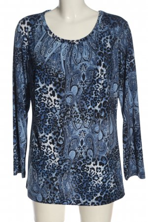 Couture Line Longsleeve blue abstract pattern casual look