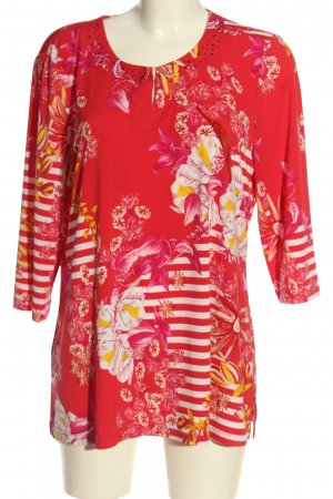 Couture Line Slip-over Blouse flower pattern casual look