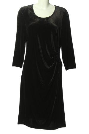 Couture Line Longsleeve Dress black wet-look