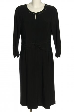 Couture Line Longsleeve Dress black business style