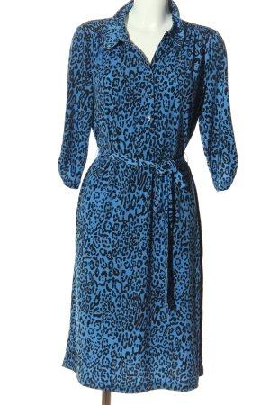 Couture Line Longsleeve Dress blue-black allover print elegant
