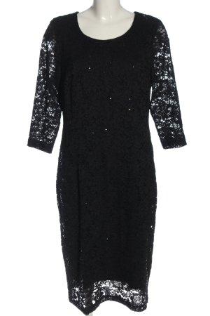 Couture Line Longsleeve Dress black elegant