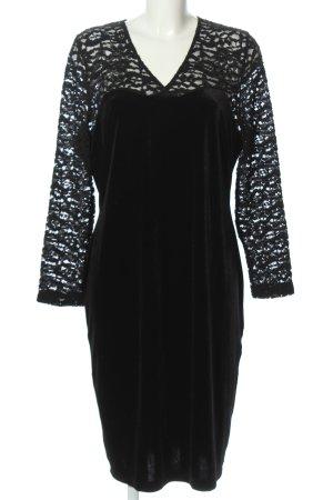 Couture Line Langarmkleid schwarz abstraktes Muster Elegant