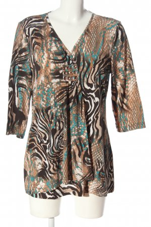 Couture Line Long Shirt abstract pattern casual look