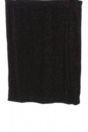 Couture Line Miniskirt black-silver-colored flecked wet-look