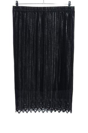 Couture Line Plisseerock schwarz Casual-Look