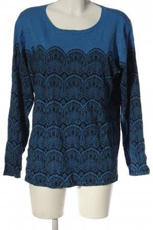 Couture Line Crewneck Sweater blue-black themed print casual look