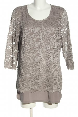 Couture Line Spitzenbluse hellgrau Casual-Look