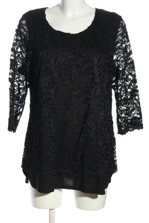 Couture Line Spitzenbluse schwarz Casual-Look