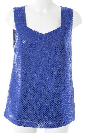 Couture Line Trägertop blau Punktemuster Party-Look