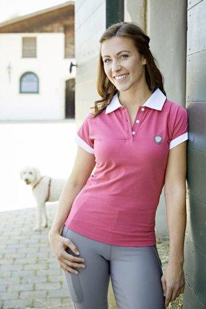 Covalliero Polo Shirt Sinara, wildberry, Gr. XXL