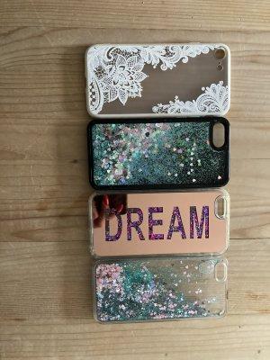 Hoesje voor mobiele telefoons wit-roze
