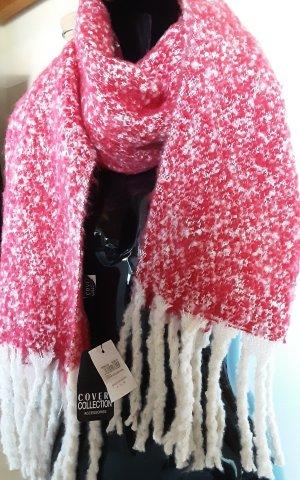 coveri collection Écharpe à franges blanc-rouge