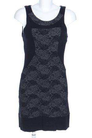 Coveri Factory Vestido elástico negro-gris claro estampado floral
