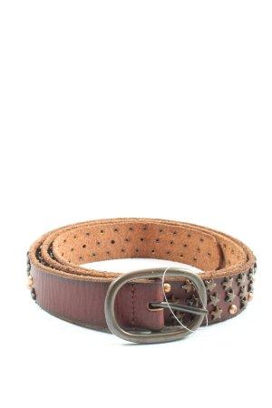 cowboy belt Skórzany pasek brązowy Elegancki