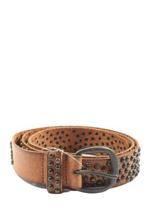 cowboy belt Skórzany pasek brązowy Na całej powierzchni W stylu casual