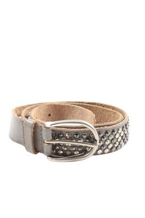 cowboy belt Ceinture cloutée gris clair-argenté style décontracté
