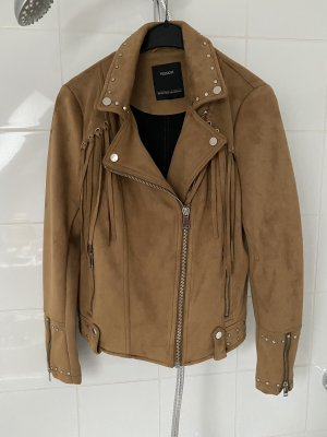 Yessica Faux Leather Jacket light brown