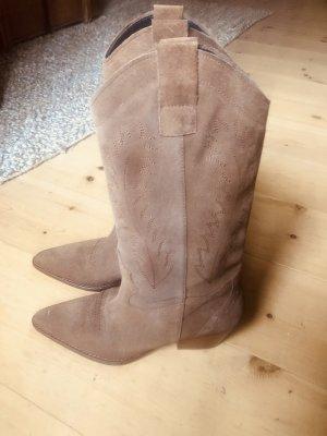 Aldo Western Boots cognac-coloured leather