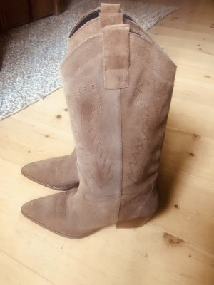 Aldo Western Boots cognac-coloured suede