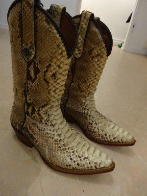 Cowboy Boots aus echter Python von Marlboro Classics
