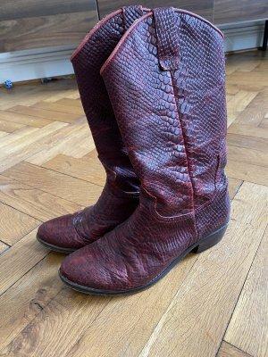 Lazamani Western Boots carmine