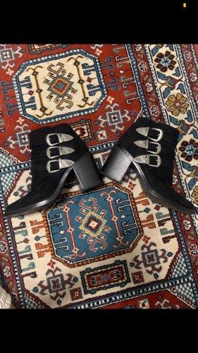 Cowboy boots mit silber Schnallen
