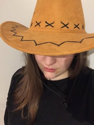 Cowboy Hat cognac-coloured