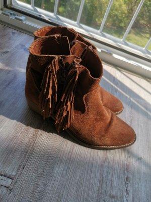 Tamaris Western Boots cognac-coloured-beige