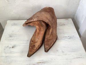 Boots western cognac cuir