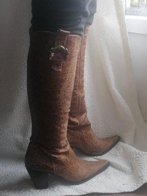 Boots western brun