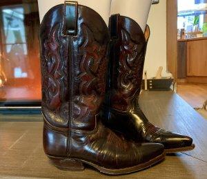 Sendra Boots western brun foncé-brun rouge