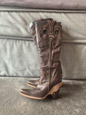 Christian Dior Botas estilo vaquero marrón claro