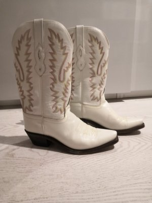 Western Boots white leather