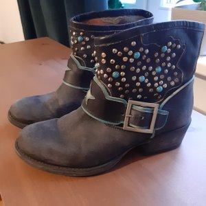 Roberto Santi Western Booties multicolored leather