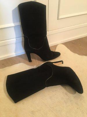 Zara Botines estilo vaquero negro