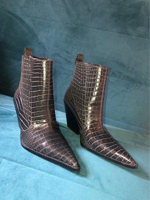 Zara Women Western Booties anthracite