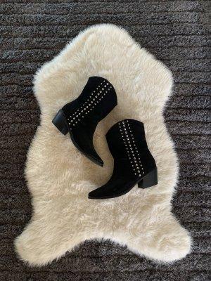 Chukka boot noir-doré