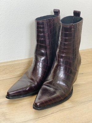 Zara Botas estilo vaquero burdeos