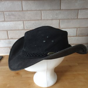Cowboy Hat black-anthracite suede