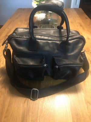 Cowboysbag Laptop bag black leather