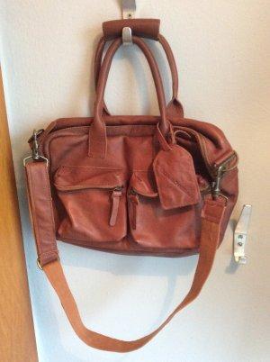 Cowboysbag Shoulder Bag dark orange leather