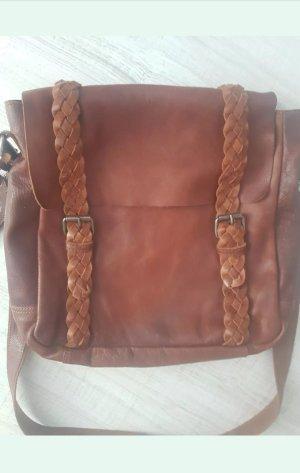 Cowboysbag Ledertasche - Vintage Umhängetasche - Handtasche Leder Cognac *LETZTE REDUZIERUNG*