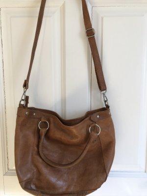 Cowboysbag Shopper cognac-coloured leather