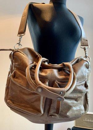 Cowboysbag Shoulder Bag grey brown-taupe leather