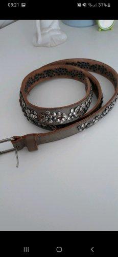 Cowboysbelt Ceinture en cuir gris brun