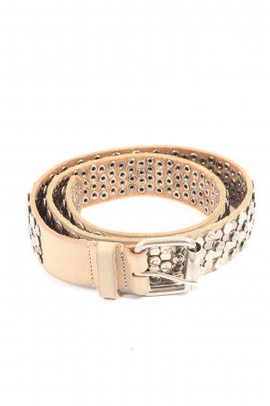 Cowboysbelt Leather Belt nude glittery