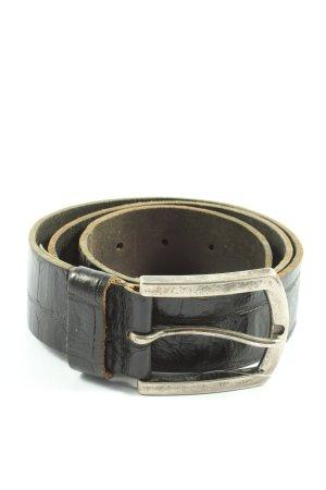 Cowboysbelt Ledergürtel schwarz Casual-Look